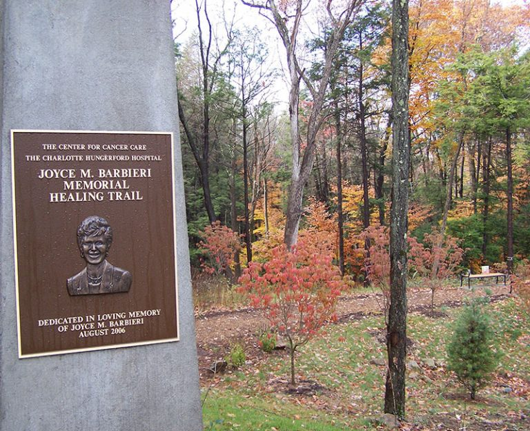The Memorial Healing Trail plaque