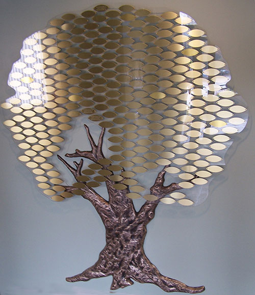 Tree of Life with gold leaves